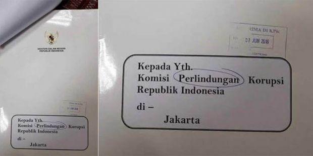 Stafnya Plesetkan KPK