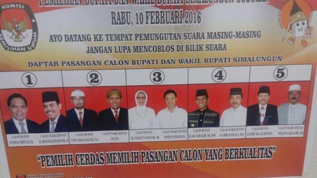 Hitung Cepat Pilkada Simalungun: JR Saragih-Amran Sinaga Paling Unggul Jadi Bupati dan Wakil Bupati