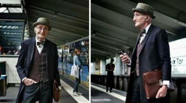 Pria Berumur 104 Tahun Jadi Inspirasi Gaya Berpakaian