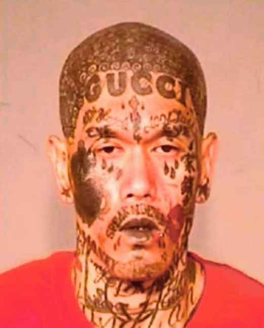 Inilah Bandit yang Paling Mudah Dikenali di Dunia karena Wajahnya Penuh Tato