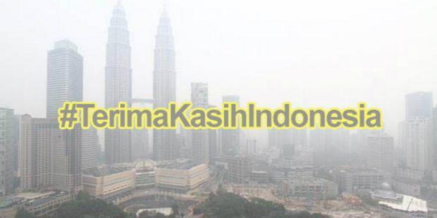 "Warga Malaysia-Singapura Terganggu Asap, ""Sindiran"" Bertagar #TerimaKasihIndonesia Merebak"