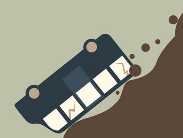 Rem Blong, Bus Pengakut 23 Brimob Terjun ke Jurang