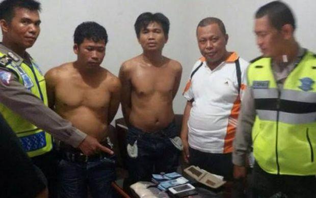 Digeledah Polisi, 2 Kurir Sabu Ini Melawan, Akhirnya Ditembak...