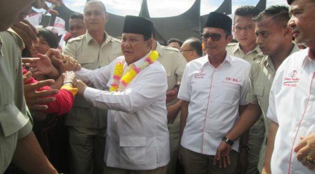 Jadi Jurkam, Prabowo Ungkit Kenangan Masa Kecilnya di Sumbar