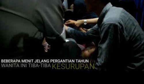 Seorang Wanita Ternyata Kesurupan saat Detik-detik Pergantian Tahun di Purna-MTQ Pekanbaru