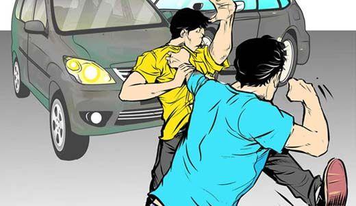 Marah karena Diminta Karcis, Tukang Parkir Pukul Seorang Pengendara di Belakang Ramayana Pekanbaru