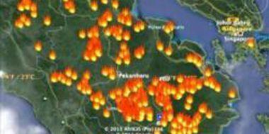 52 Titik Api Kepung Riau, 37 di Antaranya di Bengkalis
