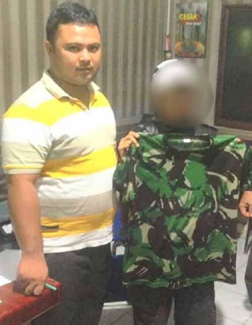 """Pede"" Ngaku sebagai Anggota BIN dan Pakai Kaos Loreng, Wanita 33 Tahun di Kepulauan Meranti Berurusan dengan Polisi"