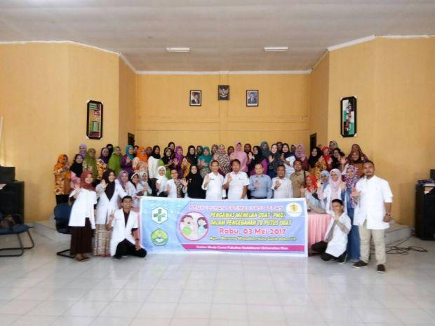 12 Calon Dokter Muda dari Universitas Riau, Gelar Penyuluhan Optimalisasi Mencegah Penyakit TB di Kecamatan Kotogasib