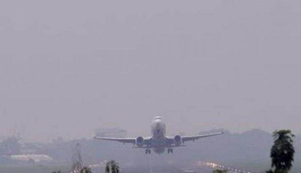 Bandara Pekanbaru Lumpuh 10 Jam akibat Asap