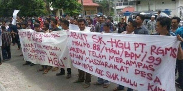 PT RGMS Dituding Selewangkan Hak Guna Usaha di Kampar