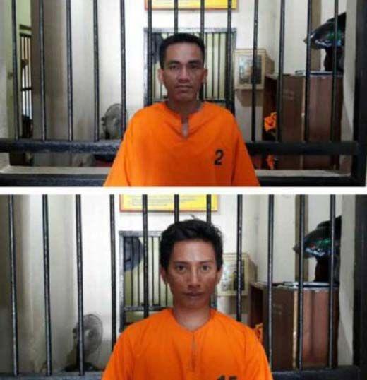 Dua Tahanan Polsek Kemuning Inhil yang Kabur Ditangkap Polisi saat Tertidur Pulas di Gubuk Penjaga Kebun Karet di Muara Tebo Jambi