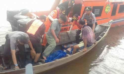 Hampir 11 Jam Tenggelam di Sungai Selat Morong, Pegawai Honorer Kantor Desa Dungunbaru Rupat Bengkalis Ditemukan Sudah Tak Bernyawa