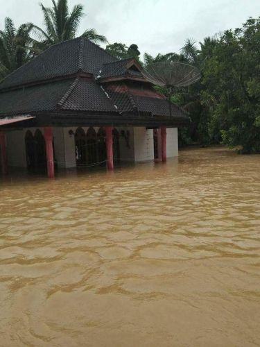 Hampir 300 Kepala Keluarga Mengungsi akibat Banjir di Kuantan Singingi