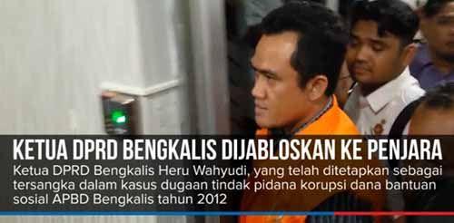 Didakwa Korupsi Dana Hibah, Ketua DPRD Bengkalis Nonaktif Dituntut 8 Tahun 6 Bulan Penjara