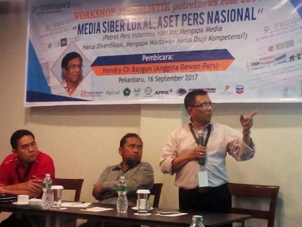 """Momen Workshop Jurnalistik potretnews.com 2017 """"Media Siber Lokal, Aset Pers Nasional"""" yang Terabadikan lewat Foto"""