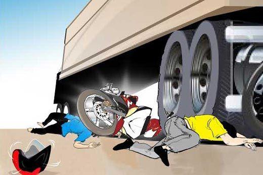 Kecelakaan Maut di Langgam Pelalawan, Suami dan Istri Tewas Terlindas Truk BM 9009 CA, Sopirnya Kabur