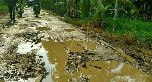 """Penyelesaian Perbaikan Jalan di Sungai Luar Inhil """"Masih dalam Angan-angan"""""""