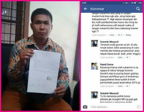 Warga Muaralembu Ini Terancam Masuk Penjara Gara-gara Berkomentar Buruk yang Mencemarkan Nama Mantan Bupati Kuansing Sukarmis di <i>Facebook</i>