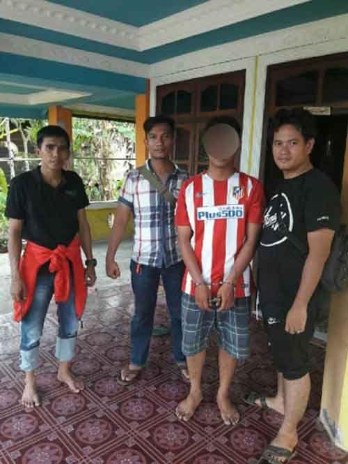 Penikam Istri di Tembilahan Hulu Inhil Ditangkap Polisi Usai Salat di Mesjid Desa Sungai Lokan Kecamatan Enok