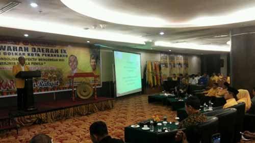 Tak Ada Kader Lain yang Berani Maju, Sahril Diprediksi Aklamasi di Musda Partai Golkar Pekanbaru