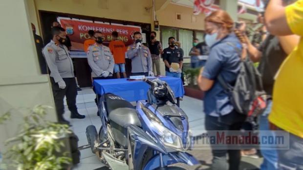 Pelaut dari Rengat Riau Jadi Korban Pencurian yang Dilakukan Sepasang Kekasih di Manado