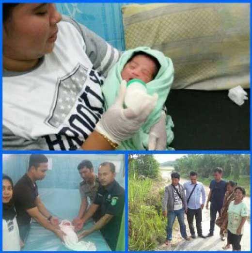 Geger! Warga Gang Bukit Berbunga Kecamatan Minas Siak Temukan Bayi Perempuan Baru Lahir Sedang Dijilat Anjing di Pinggir Jalan