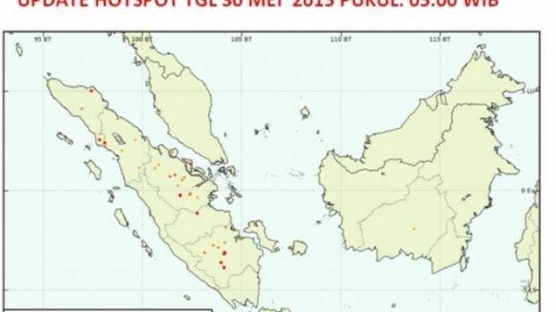 Pantauan Satelit Pagi Ini, 13 Titik Panas Terdeteksi di Bengkalis, Meranti dan Siak