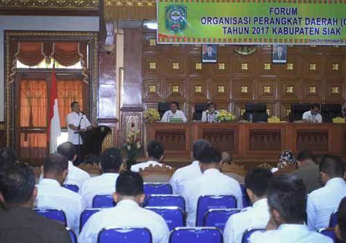 Wabup Alfedri Bilang OPD yang Ada di Kabupaten Siak Harus Mengubah <i>Mindset</i>, agar Dapat Mendongkrak Pendapatan Daerah