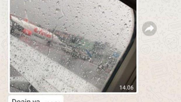 Seorang Penumpang Sriwijaya Air SJ 182 Sempat Kirim Foto Sayap Pesawat sebelum Lepas Landas, Isyaratkan Cuaca Buruk