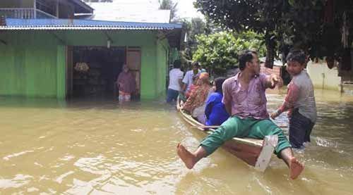 267 Warga di Tiga Kabupaten di Riau Terjangkit Penyakit akibat Banjir