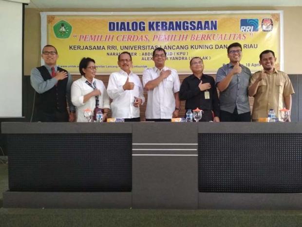 Sukseskan Pilgubri 2018, RRI dan Unilak Gelar Dialog Kebangsaan