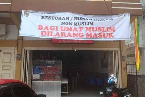 Ramadan di Pekanbaru, Restoran yang Pasang Spanduk Ini Boleh Buka Siang Hari