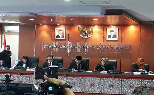 DKPP Nyatakan Baik 5 Komisioner KPU Pekanbaru Tidak Langgar Kode Etik