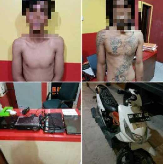 Dicurigai Bongkar SDN 012 Pekanbaru, Pemuda Bertato Macan Diringkus Polisi di Rumahnya
