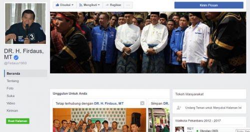 FMP3 Surati KPU, Minta <i>Fan Page Facebook</i> DR H Firdaus MT Diawasi