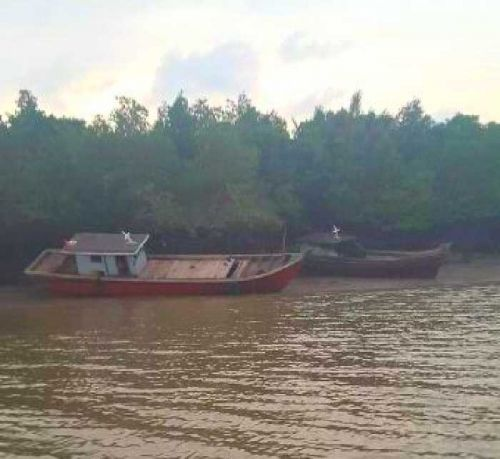 Polair Riau Tangkap 2 Kapal Pompong Pengangkut Kayu Olahan Ilegal Asal Kepri