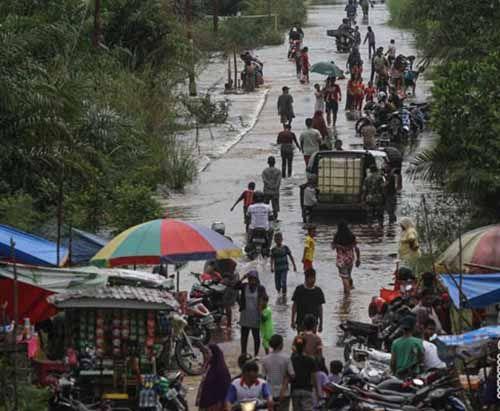 Banjir di Indragiri Hulu Meluas, 32 Desa Terendam