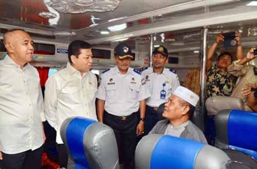Safari Ramadan ke Riau, Ketua DPR Setya Novanto Cek Persiapan Arus Mudik di Pelabuhan Dumai