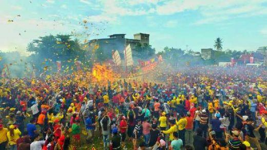 Ribuan Orang dari Berbagai Negara Banjiri Festival Bakar Tongkang di Bagansiapiapi