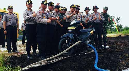Inilah Tunggangan Ajaib Satgas Mengatasi Kebakaran Hutan dan Lahan Riau