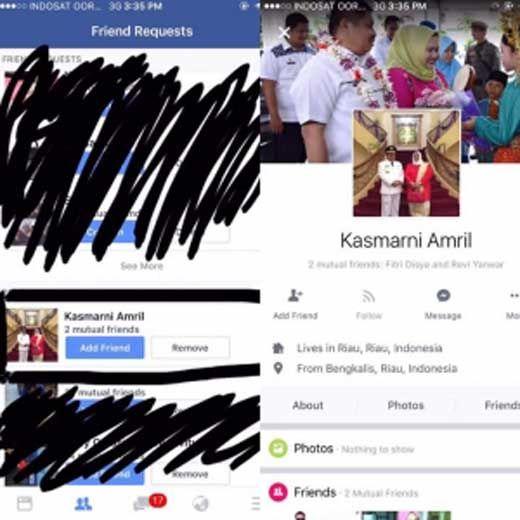 Hati-hati, Beredar Akun <i>Facebook</i> Palsu Istri Bupati Bengkalis, Dipakai Penipu Minta Transfer Uang