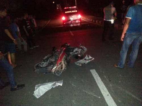 Dua Pelajar Kuansing Tewas Tergilas Colt Diesel di Jalan Abdoer Rauf Telukkuantan, Sopir Melarikan Diri