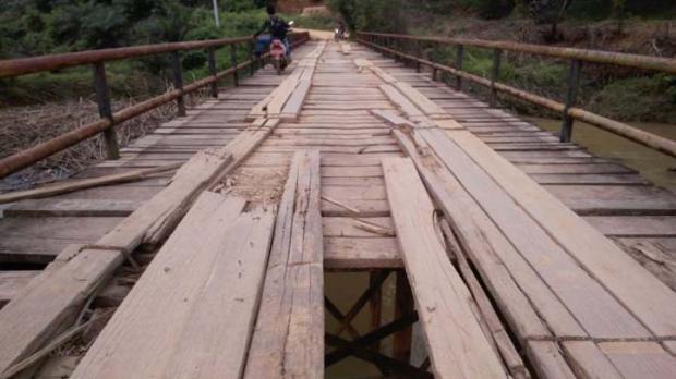 Proyek Jembatan Mahato-Sukadamai di Rokan Hulu Mangkrak, Perlu Duit Rp16 Miliar untuk Merampungkan