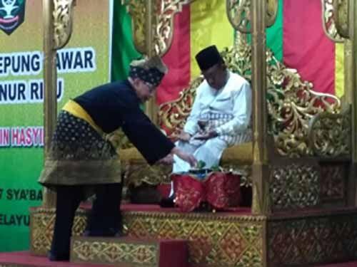 Wakil Gubernur Riau Wan Thamrin Hasyim Jalani Tradisi Tepung Tawar dan Dengarkan Harapan Al Azhar