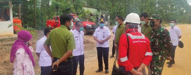 Bupati Mursini Apresiasi PT RAPP Bangun Poskowas Covid-19 di Perbatasan Kuansing-Pelalawan