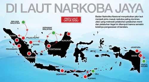 Waspadai 92 Jaringan Narkoba di Indonesia! Manfaatkan Jalur Tikus dari Timur Aceh, Kemudian ke Pangkalanbandan, lalu Masuk ke Riau
