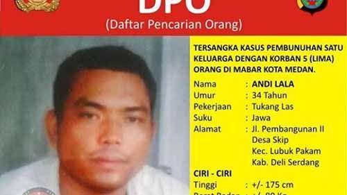 Andi Lala, Buronan Paling Dicari Pembunuh Keji Satu Keluarga di Medan Ditangkap di Pelosok Indragiri Hilir Riau