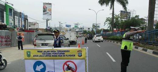 Kecuali Jam-jam Berikut, Sepeda Motor Dilarang Lewat <i>Flyover</i> di Jalan Sudirman Pekanbaru, Ada Sanksinya Lho!