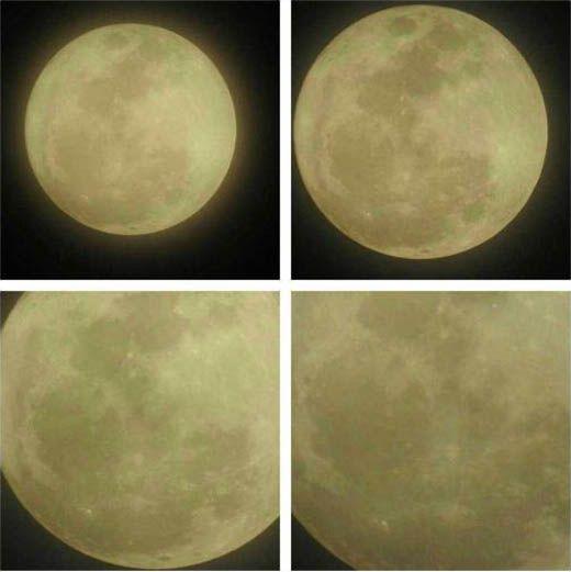 Indahnya Penampakan Fenomena Langka Bulan Purnama di Atas Langit Kota Pekanbaru Malam Tadi, yang Hanya Bisa Disaksikan 68 Tahun Sekali